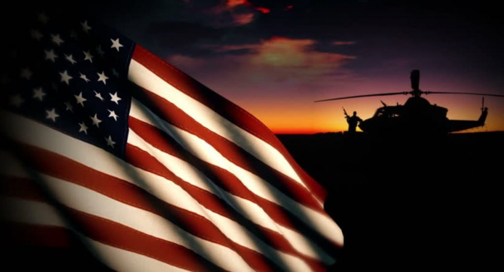 military flag va home loan
